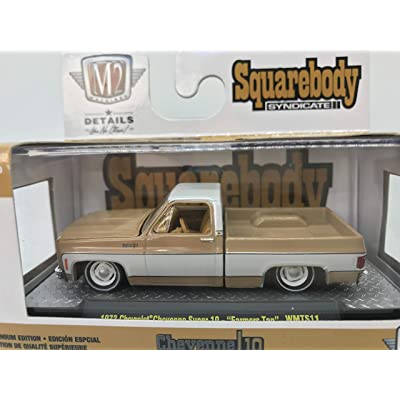 "M2 Machines by M2 Collectible Squarebody Syndicate Series 1973 Chevrolet Cheyenne Super 10 -""Farmers Tan 1:64 Scale WMTS11 19-46 Tan Details Like NO Other! 1 of 7880: Toys & Games"