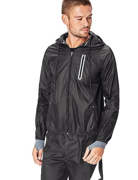 Activewear Chaqueta Cortavientos con Capucha para Hombre: Amazon.es: Ropa y accesorios