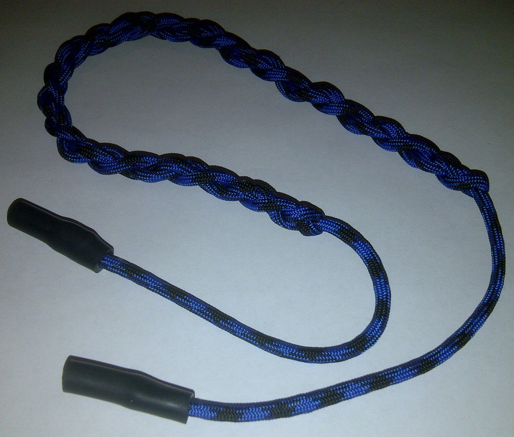Paracord Sunglasses Retainer Eyeglass Holder (Bruiser (Black & Blue)) by NOS