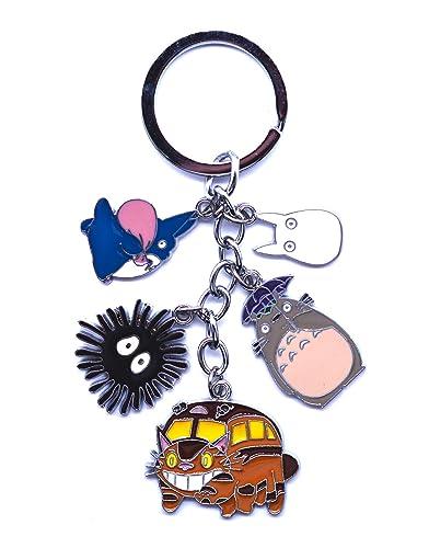 Anime Domain Llavero de Totoro con 5 Figuras Chibi: Amazon ...
