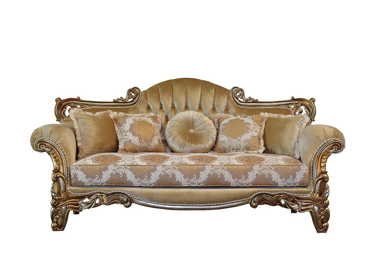 Amazon.com: European Furniture Alexsandra Luxury Sofa ...