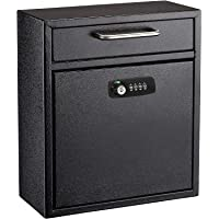 AdirOffice Ultimate Drop Box Wall-Mounted Mailbox - Hanging Secured Postbox - Durable Spacious Key or Combination Lock…