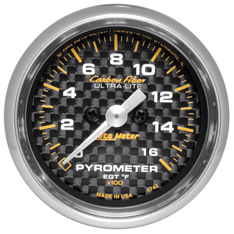 Auto Meter 4744 Carbon Fiber Electric Pyrometer Gauge Kit by Auto Meter (Image #1)