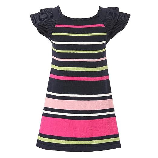 e5955db999b Amazon.com  Richie House Girl s Colorful Striped Sweater Dress ...
