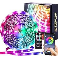 LED-strip Muzieksynchronisatie Kleurveranderende RGB LED-strips Afstandsbediening met 44 toetsen, Lngebouwde microfoon…