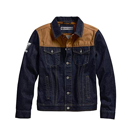 b1c484f5cf5 Image Unavailable. Image not available for. Color  Harley-Davidson Official  Men s Waxed Canvas Slim Fit Denim Jacket