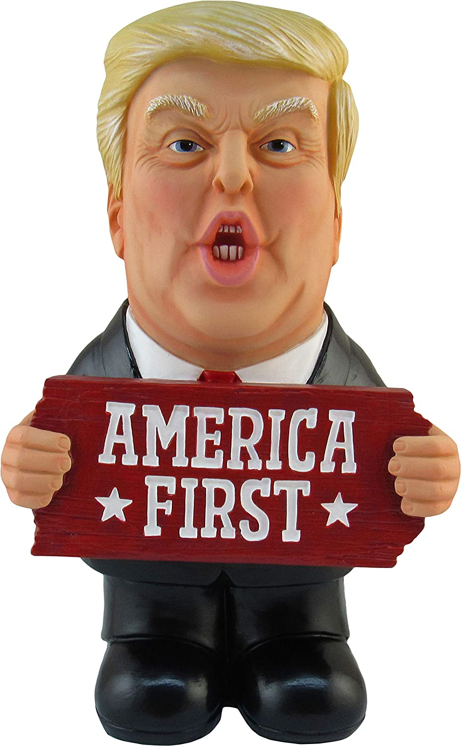 DWK - Make US Great - Collectible Trump Figure with America First Sign MAGA Patriotic Political Statue Novelty 2020 Campaign Garden Office Home Décor Accent, 9.5-inch