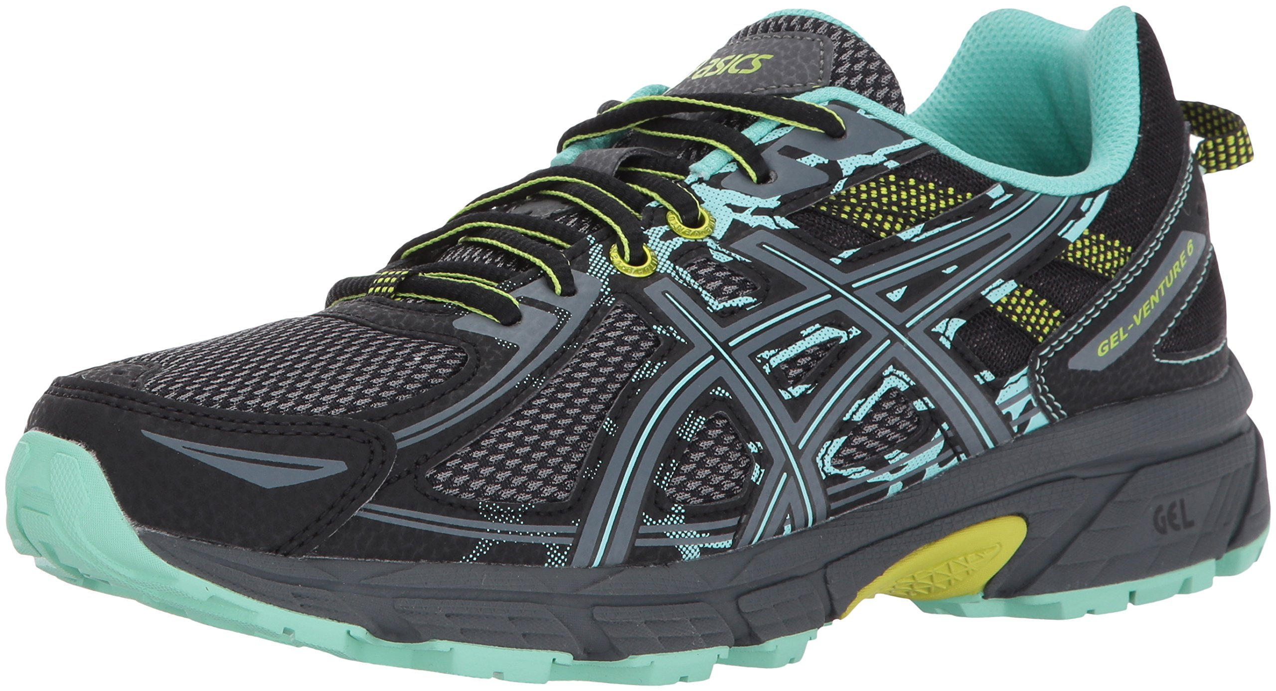 ASICS Women's Gel-Venture 6 Running-Shoes,Black/Carbon/Neon Lime,5 Medium US