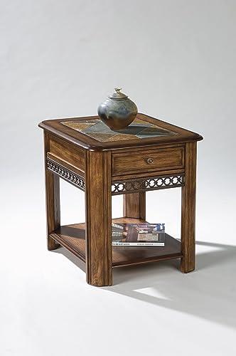 Magnussen Madison Wood Rectangular Drawer End Table