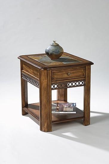magnussen madison wood rectangular drawer end table - Magnussen Furniture