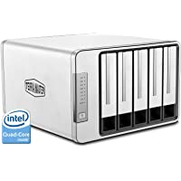 Terramaster F5420US 2-Bay 12TB 5400RPM RAID 10 Desktop Diskless Network Attached Storage for Windows/Mac with Intel Core i3 Small/Medium Business