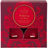 Shearer Candles Hollyberry and Clove (Pack of 8) Scented Tealights - Red