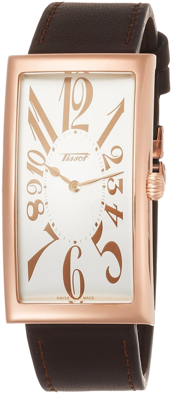 [ティソ] TISSOT 腕時計 ヘリテージ バナナ センテナリー クォーツ シルバー文字盤 ブラウンレザー T1175093603200 メンズ 【正規輸入品】 B076XD4D64