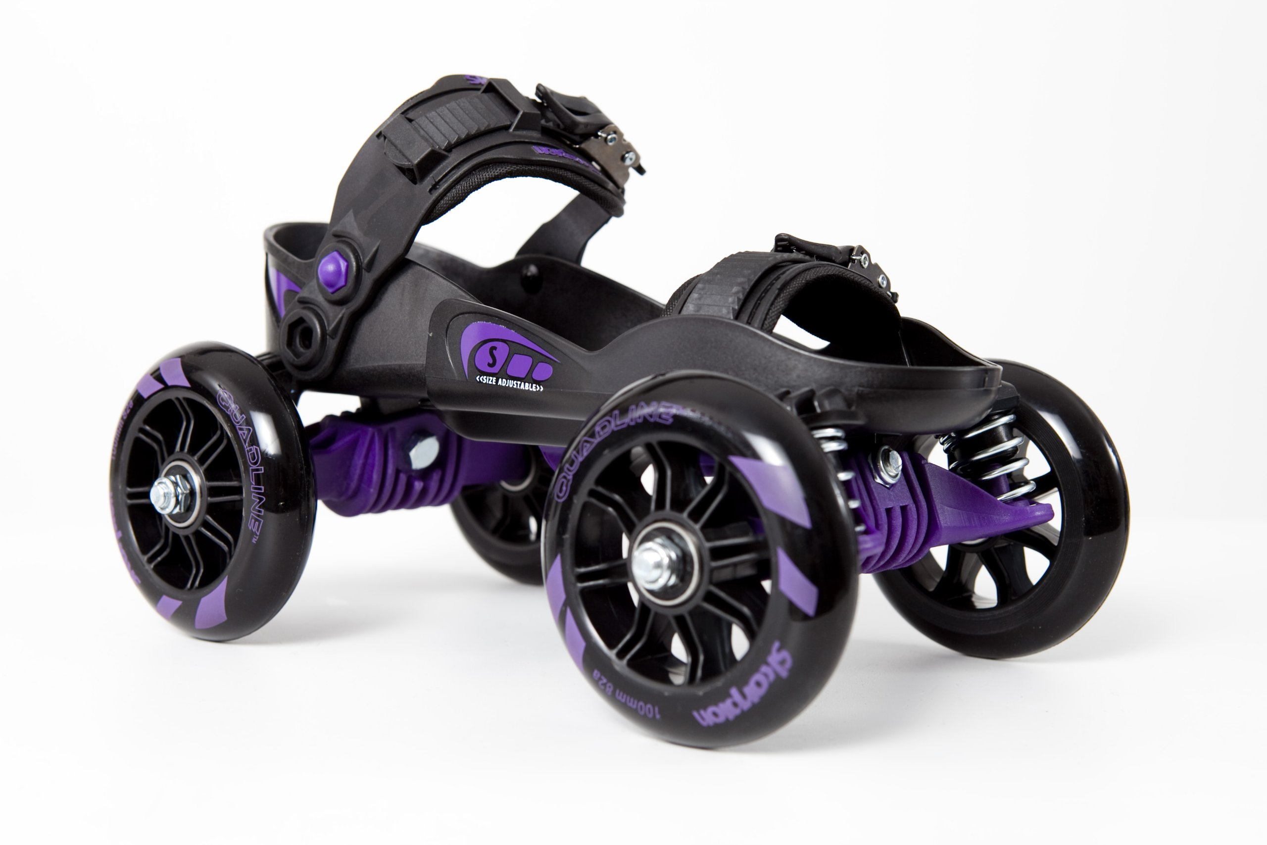 Skorpion™ Quadline® Street Skates - Large Purple / Black
