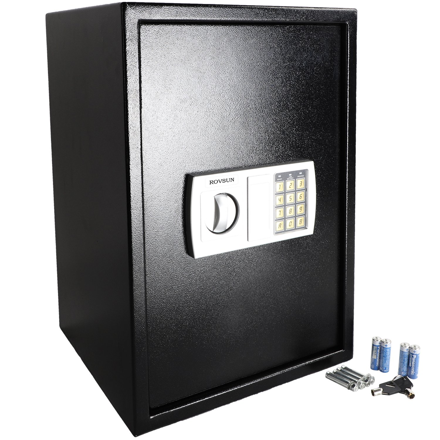 ROVSUN Digital Security Safe Box 1.8 CF Large Electronic Cabinet with Combination Lock &Solid Steel Construction, Great for Home Office Hotel Business Jewelry Money Passport, Included Battery