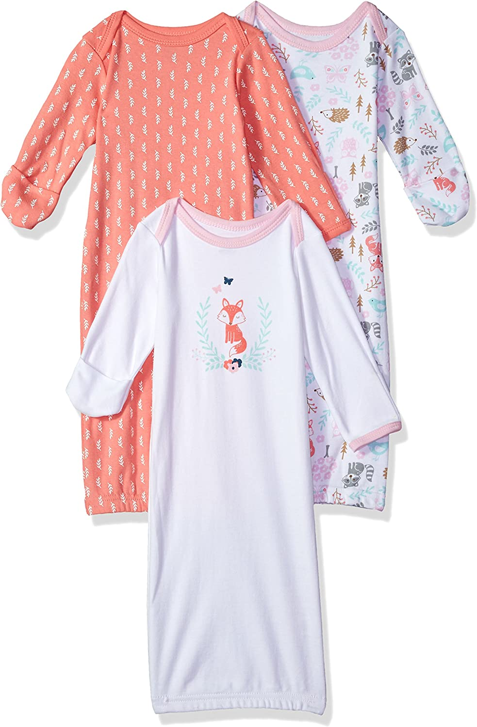 Hudson Baby Unisex Cotton Gowns Cotton Gowns