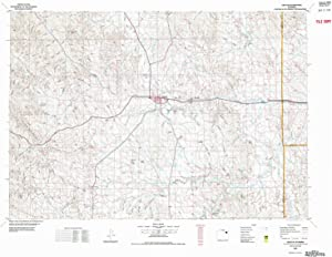 YellowMaps Gillette WY topo map, 1:100000 Scale, 30 X 60 Minute, Historical, 1972, Updated 1975, 27.2 x 35.8 in