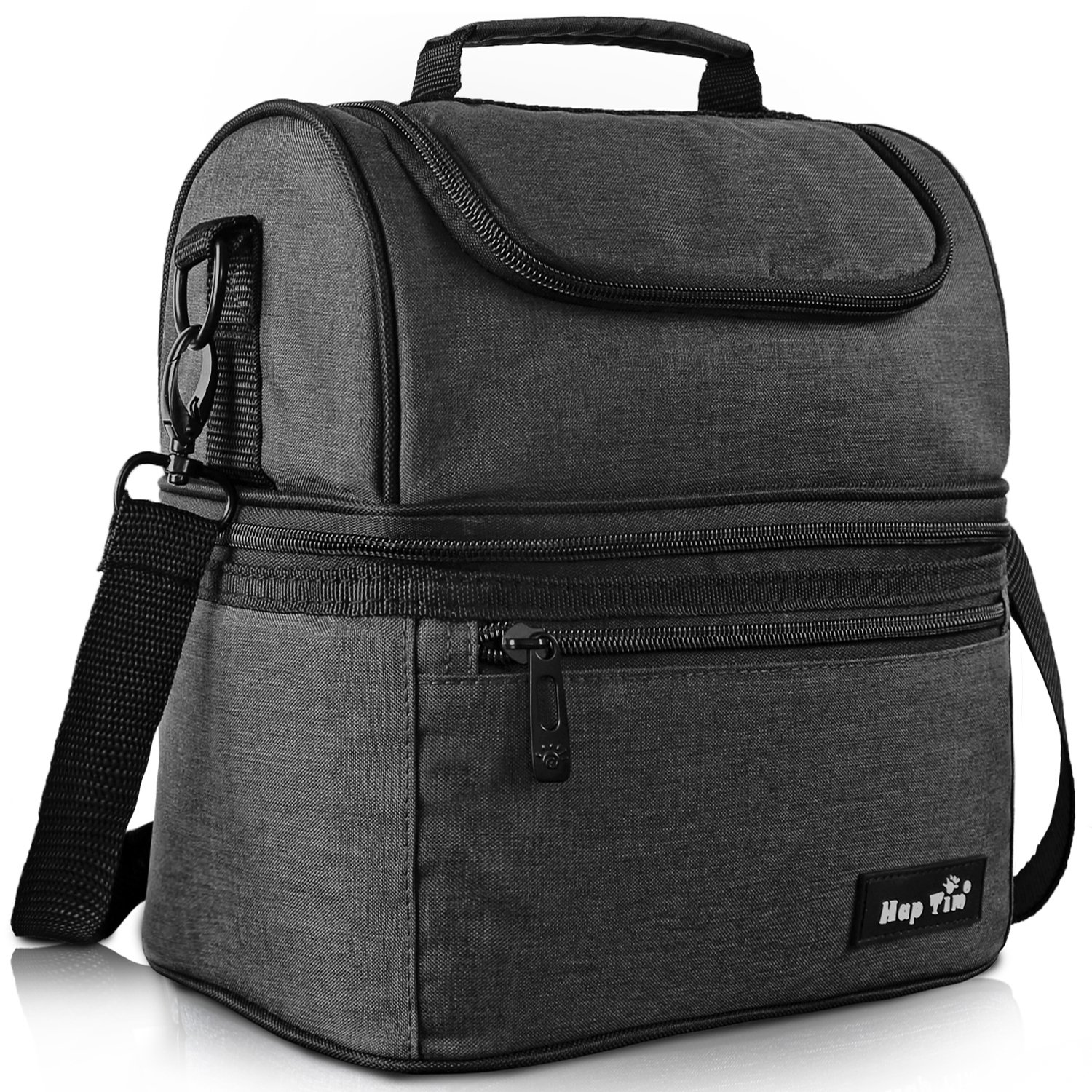 Hap Tim Lunch Box Insulated Lunch Bag Large Cooler Tote Bag for Adult,Men,Women,Kids, Double Deck Cooler for Office/School/Picnic/Travel/Camping (16040-DG)