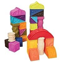 B.Toys 比乐 罗马城堡软浮雕积木 无毒可啃咬 牙胶 感官训练 早教玩具 数字形状认知 6个月+ BX1003NTZ