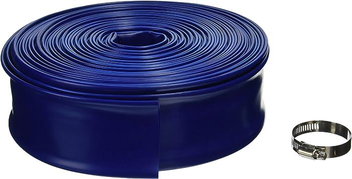 "Blue Devil 100-Foot Backwash Hose for Pool with Hose Clamp, 2"" W x 100' L"