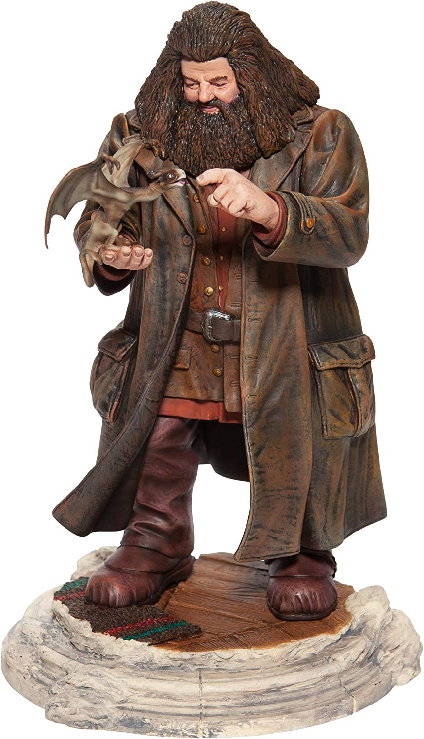Enesco The Wizarding World of Harry Potter Hagrid and Norberta The Dragon Figurine, 11.75 Inch, Multicolor