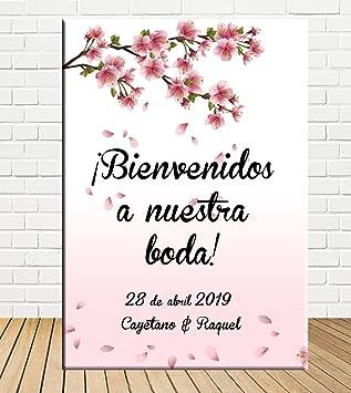 Tu Fiesta Mola Mazo Cartel Boda Bienvenida con Flores|Cartel ...