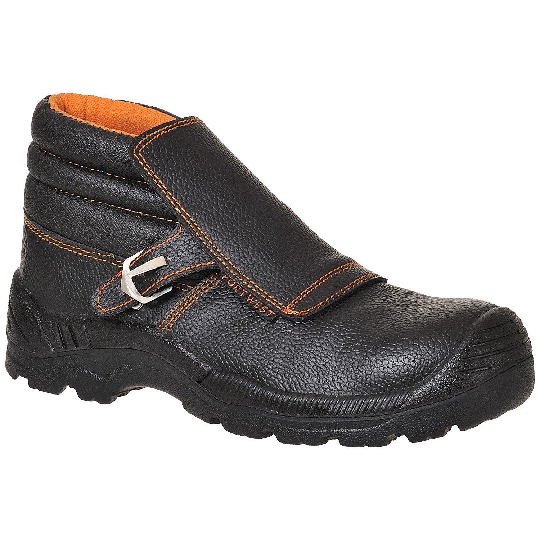 Portwest FW07 Chaussures/bottes de soudeur S3 avec embout et semelle en kevlar approuvé - 6.5 UK - noir FW07BKR40