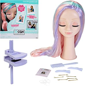 CGH Cute Girls Hairstyles! Wig with Styling Head - Straight Multi-Color Hair