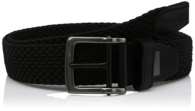 a9d36b02ca Nike Men's G-Flex Woven Stretch Golf Belt, jet black 38 at Amazon ...