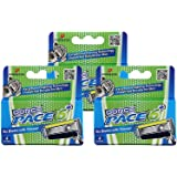 Dorco Pace 6 Plus- Six Blade Razor System with Trimmer- 12 Pack Refill (No Handle)
