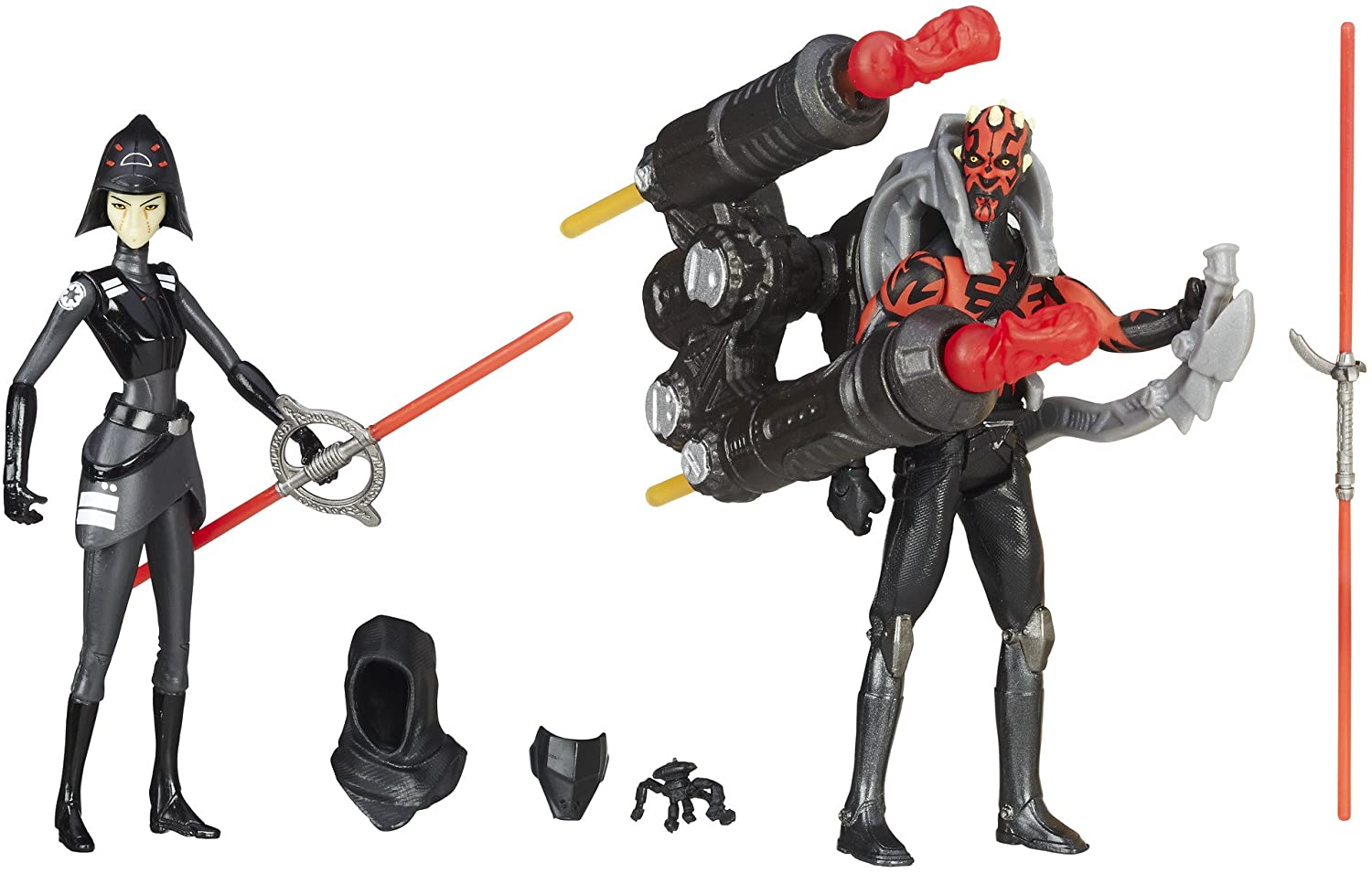 Star Wars Rebels 3.75/'/' DARTH MAUL from VS 2 pack Hasbro New Loose