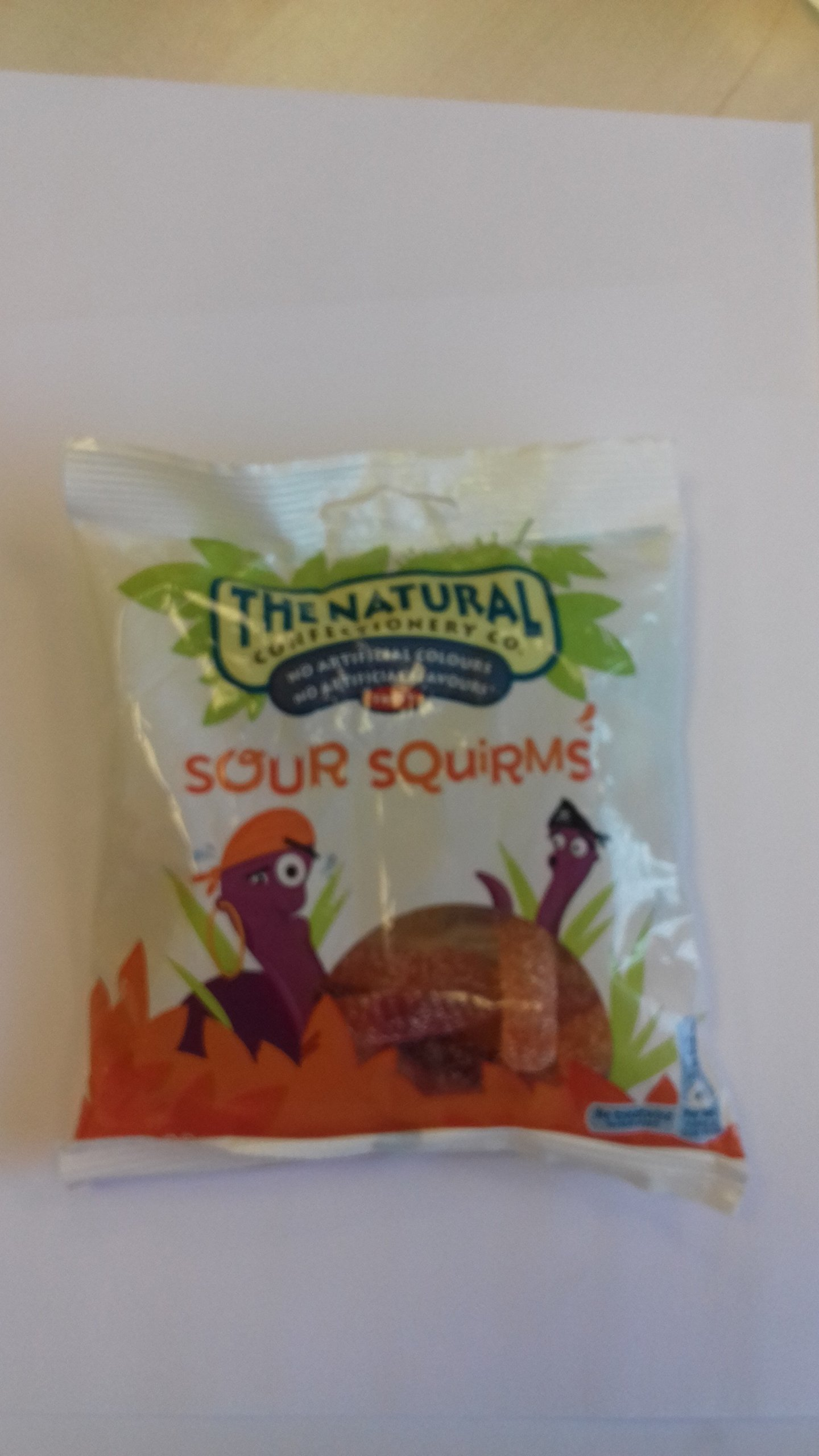 Sour Squirms 6 x 130g / 4.6oz hanging bags