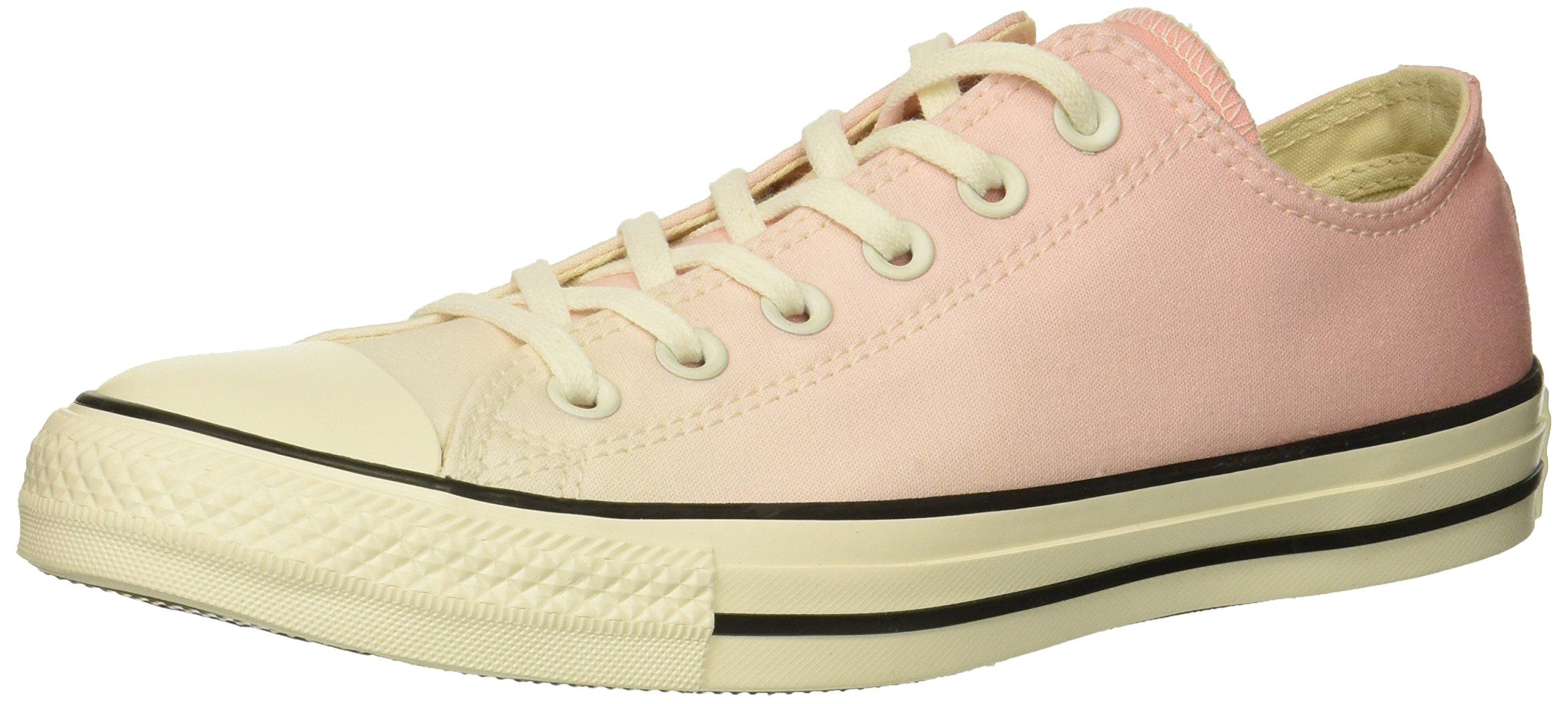 Converse Women's Chuck Taylor All Star Ombre Low Top Sneaker, Storm Pink/Egret/Egret, 8.5 M US