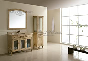 Badezimmermöbel / Badmöbel klassisch / Badmöbel set / Komplettset ... | {Doppel waschtischunterschrank design 79}