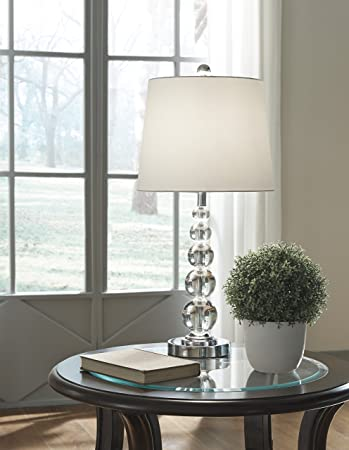 Joaquin Clear Silver Finish Crystal Table Lamp 2 Cn