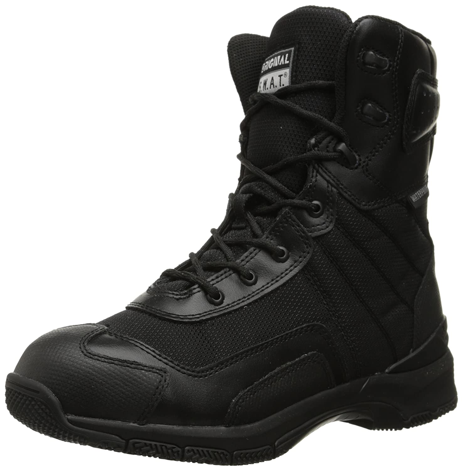 Black Original S.W.A.T. Men's H.A.W.K. 9 Inch Side-Zip Military and Tactical Waterproof Boot