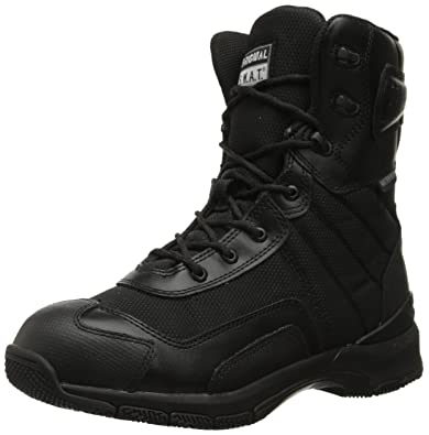 Original S.W.A.T. Men's H.A.W.K. 9 Inch Side-Zip Military and Tactical  Waterproof Boot, Black
