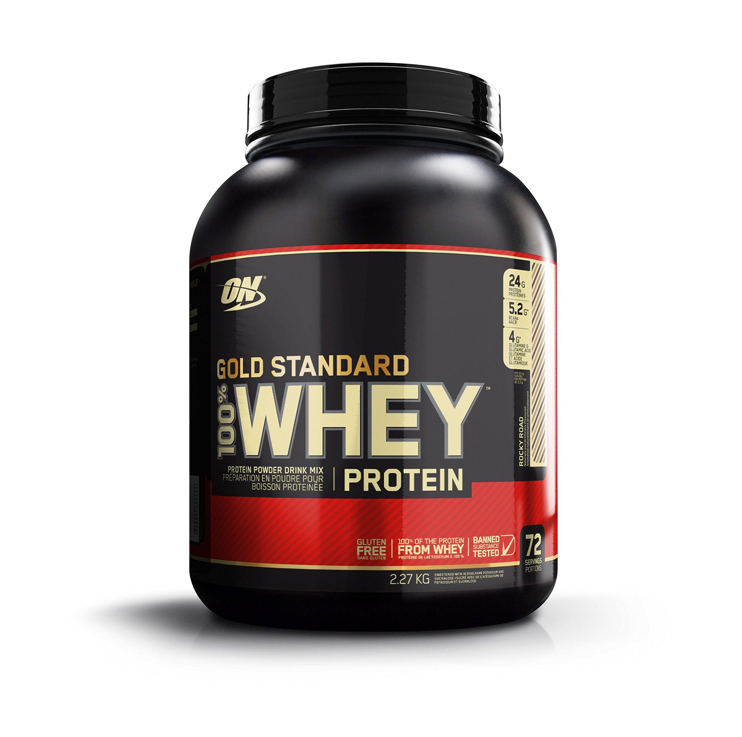 Optimum Nutrition Gold Standard 100% Whey Protein Powder, Rocky Road, 5 Pound