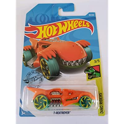 Hot Wheels 2020 Dino Riders T-Rextroyer, 89/250 Orange: Toys & Games