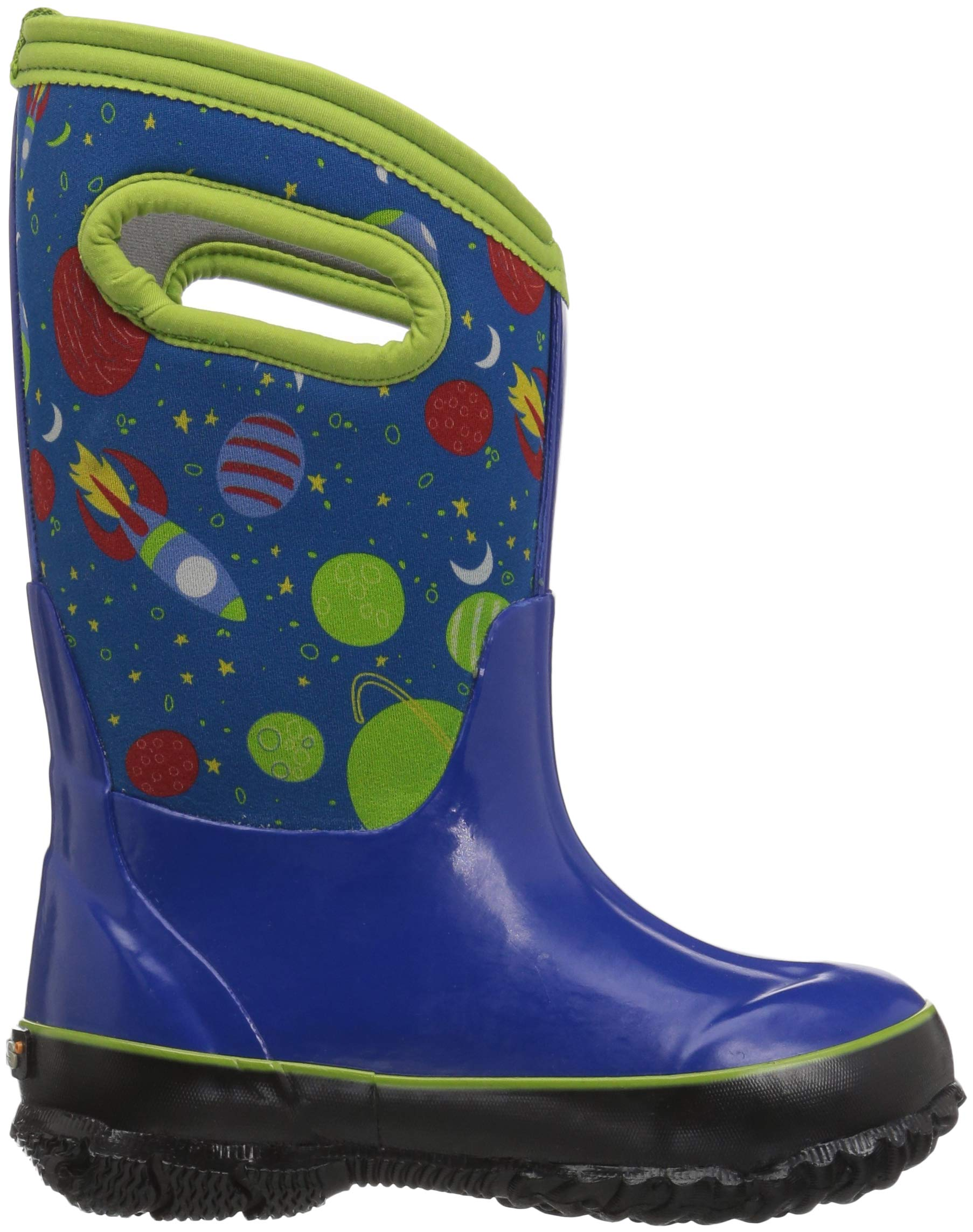 Bogs Classic High Waterproof Insulated Rubber Neoprene Rain Boot Snow, Space Blue/Multi, 11 M US Little Kid by Bogs (Image #7)