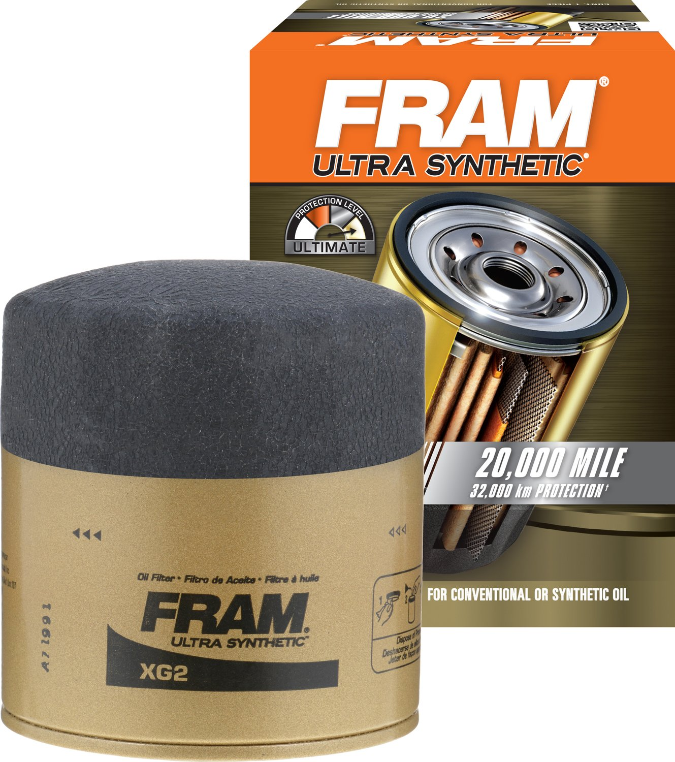 FRAM XG2 Ultra Synthetic Spin-On Oil Filter with Sure Grip rm-FTA-XG2