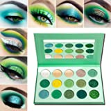 Green Eyeshadow Palette Matte Glitter,Afflano Highly Pigmented Pro Makeup Palettes Eye shadow forest emerald green…