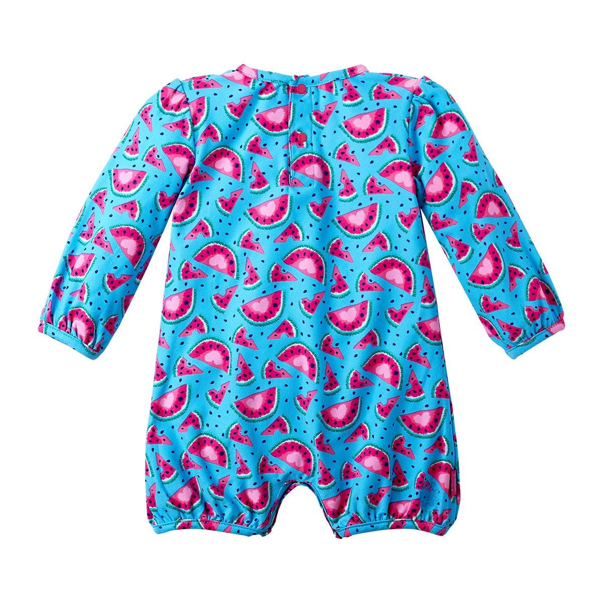 Baby Girls UV Sunzie Aqua Watermelon UV SKINZ UPF 50