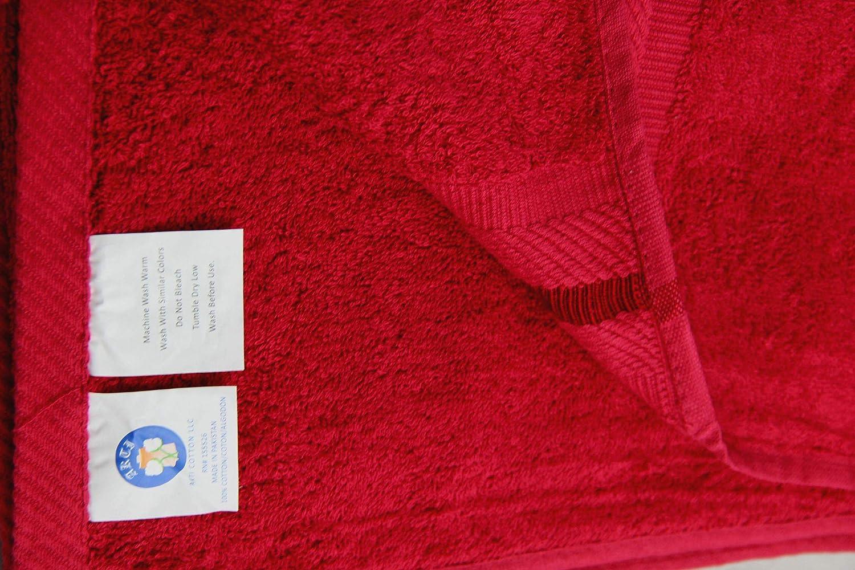 100/% Luxury Cotton- Eco-Friendly Set of 2 Crimson Soft and Super Absorbent 100cm x 150cm Large Bath Sheets