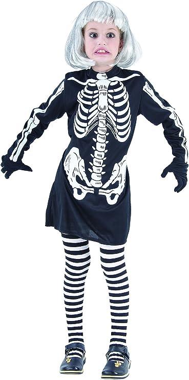 Disfraz de esqueleto para niña, ideal para Halloween: Amazon.es ...