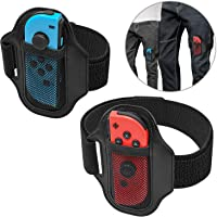 [2 Pack] Leg Strap for Nintendo Switch Ring Fit Adventure, Joy-Cons Controller Game Accessories, Adjustable Elastic…