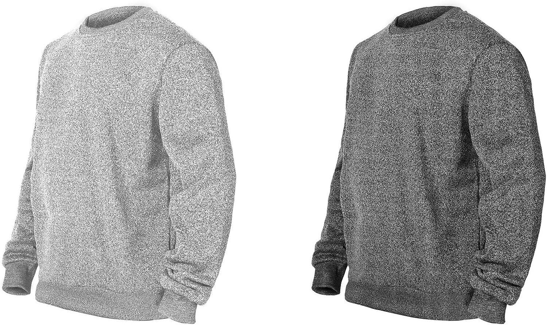 TEXFIT 2-Pack Men/'s Crewneck Sweatshirt Active Fleece Crew Neck Pullover Sweater