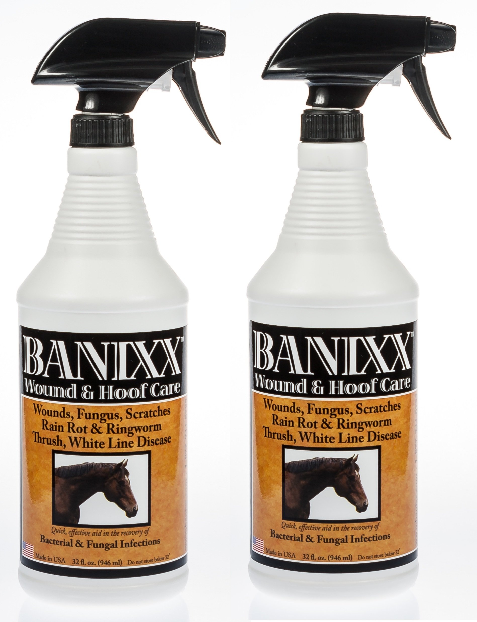 (2 Pack) Banixx Wound and Hoof Care 32-Ounces each
