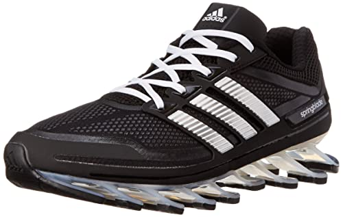 new product 22a5a ad13c adidas Springblade Running Shoe, Solar Blu Argento Nero, 7 US, (Core Black  Running White Metallic Silver), 44 2 3  Amazon.it  Scarpe e borse