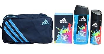 Trousse de toilette avec 3 produits Adidas Team Five